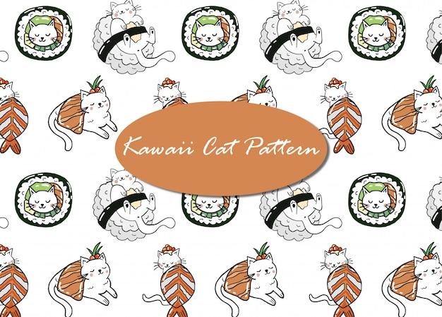Patrón de gato de sushi