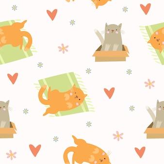 Patrón de gatos lindos