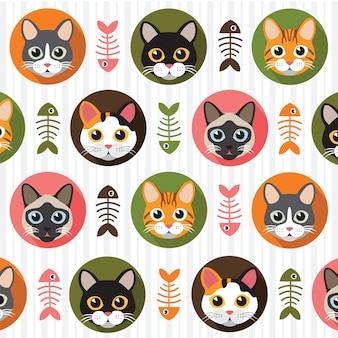 Patrón de gatos