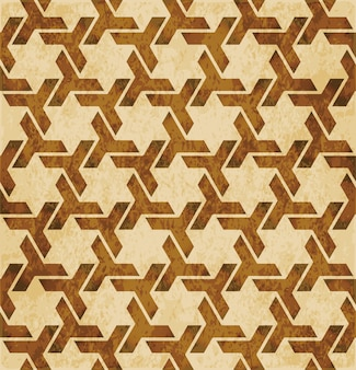 Patrón de geometría perfecta de islam marrón retro