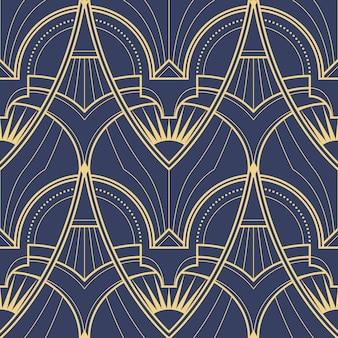 Patrón geométrico abstracto art deco