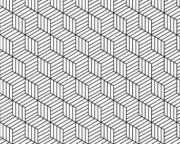Patrón geométrico abstracto fondo de vector de tono blanco y negro