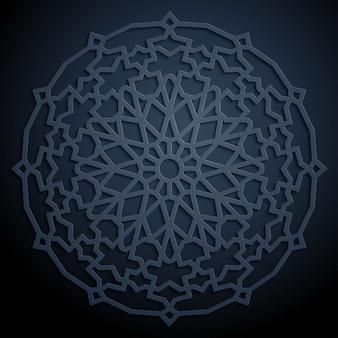 Patrón geométrico árabe