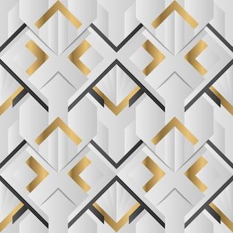 Patrón geométrico art deco abstracto