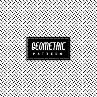 Patrón geométrico blanco y negro