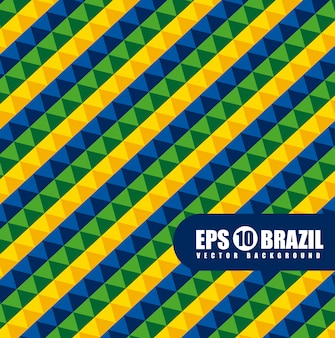Patrón geométrico de brasil