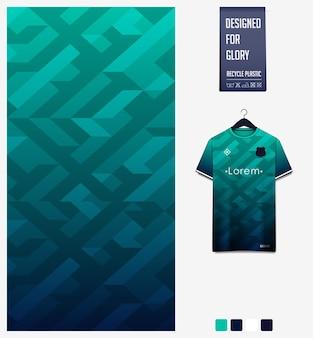 Patrón geométrico para camiseta de fútbol.