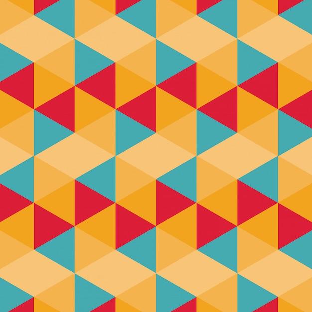 Patrón geométrico colorido