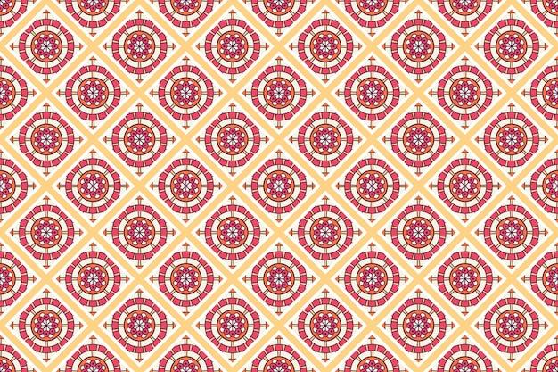 Patrón geométrico sin costuras, elemento circular