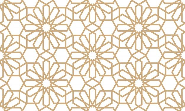 Patrón geométrico sin costuras en estilo árabe