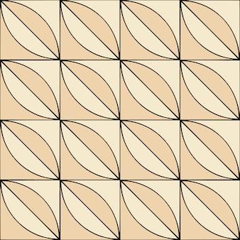 Patrón geométrico sin costuras en estilo retro en beige