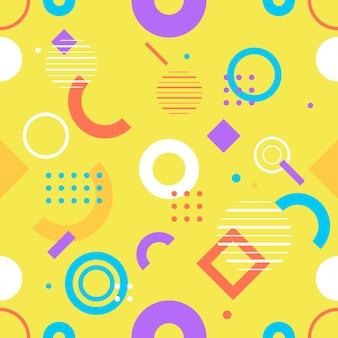 Patrón geométrico sin costuras de moda, ilustración vectorial con figuras geométricas. fondos de diseño para plantilla de invitación, folleto y promoción.