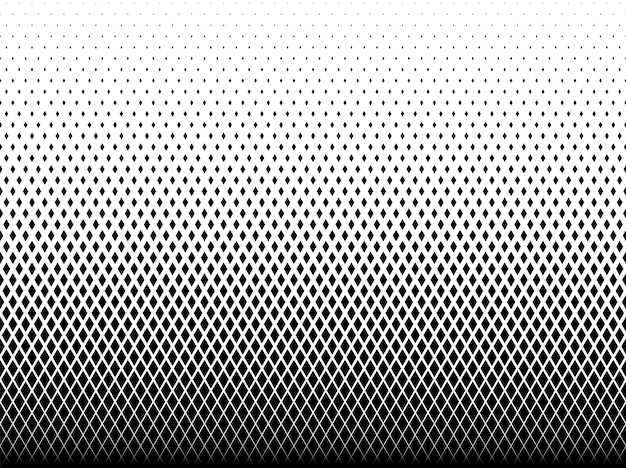 Patrón geométrico de diamantes negros.