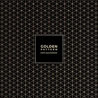 Patrón geométrico dorado de lujo, fondo abstracto