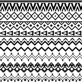 Patrón geométrico en estilo tribal