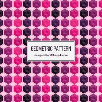 Patrón geométrico con figuras en diseño plano