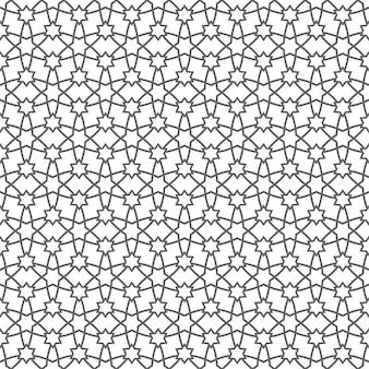 Patrón geométrico sin fisuras con estrellas en estilo árabe