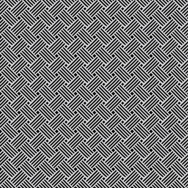 Patrón geométrico fondo diseño sin costuras línea blanco y negro