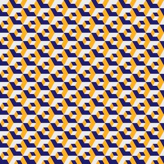 Patrón geométrico hexagonal, textura de rejilla de color amarillo. hexágono sin costura