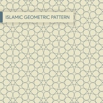 Patrón geométrico inconsútil árabe