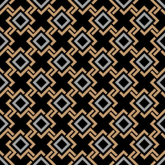 Patrón geométrico inconsútil étnico en estilo celta