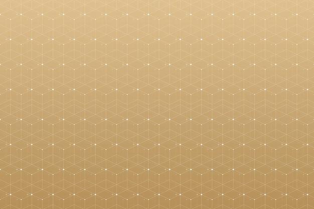Patrón geométrico con línea conectada y puntos.