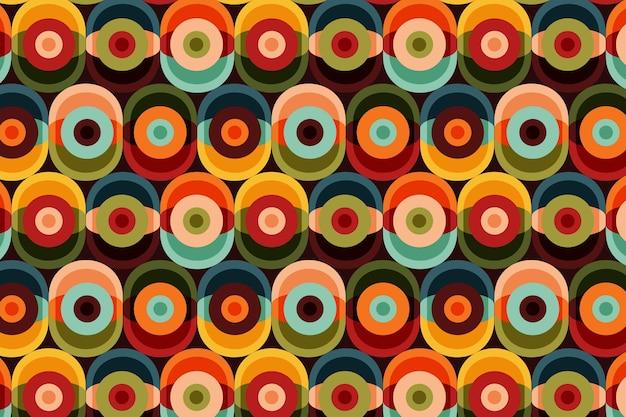 Patrón geométrico maravilloso con diferentes formas.
