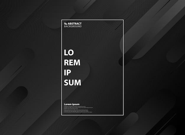 Patrón geométrico minimalista abstracto blanco y negro