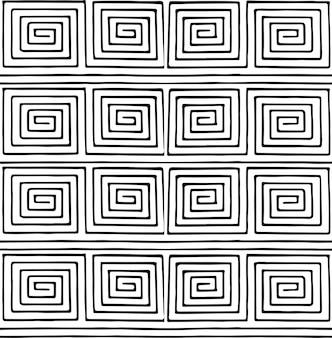 Patrón geométrico minimalista en blanco y negro.