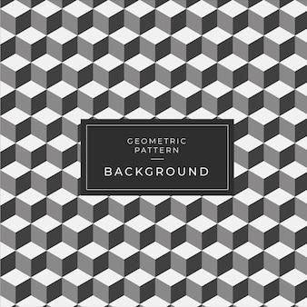 Patrón geométrico moderno azulejo monocromo para el papel pintado