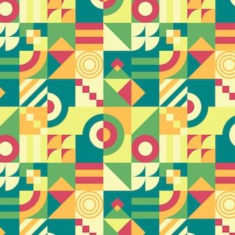 Patrón geométrico mosaico plano