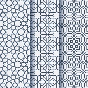 Patrón geométrico ornamento árabe