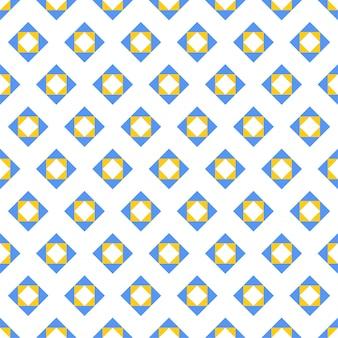 Patrón geométrico plano abstracto sin costuras