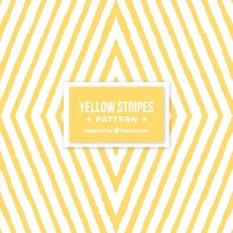 Patrón geométrico de rayas amarillas de acuarela