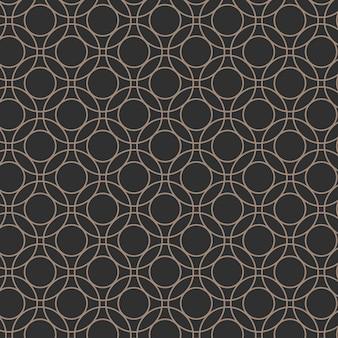 Patrón geométrico redondo transparente