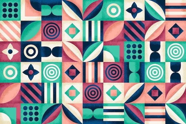 Patrón geométrico con textura de grano
