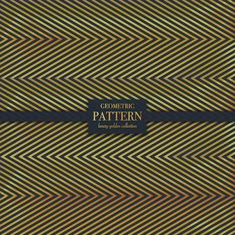 Patrón geométrico de textura de línea dorada de lujo