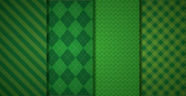 Patrón geométrico verde