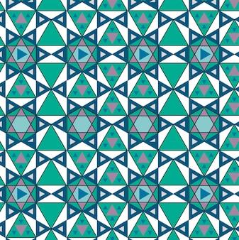 Patrón geométrico vintage inspirado
