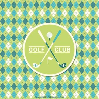 Patrón de golf de rombos