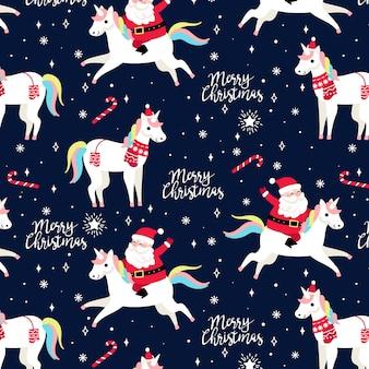 Patrón gracioso navidad