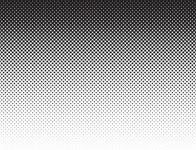 Patrón de gradiente plano blanco negro estilo cómic