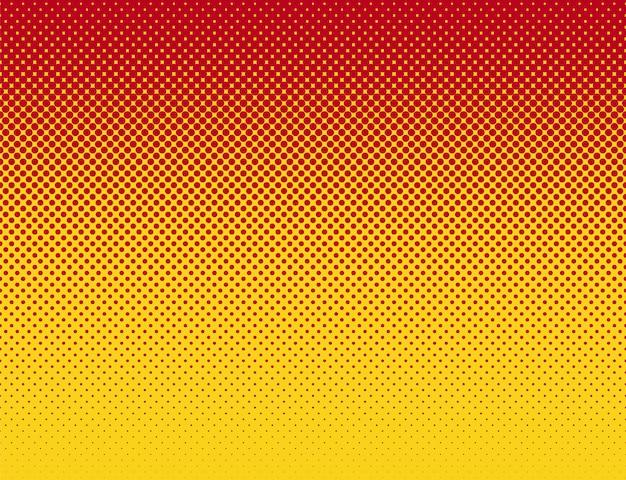 Patrón de gradiente plano rojo naranja estilo cómic