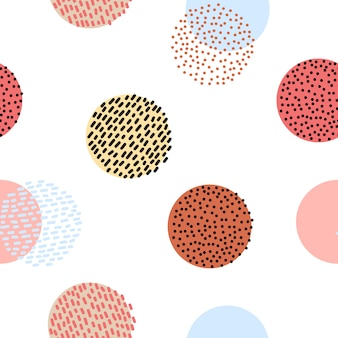 Patrón gráfico colorido estilizado inconsútil