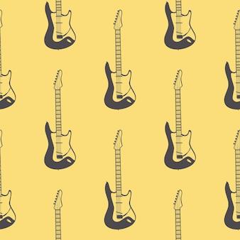 Patrón de guitarras, ilustración musical. portada creativa y de lujo