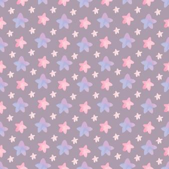 Patrón de habitación de guardería lindo con estrellas