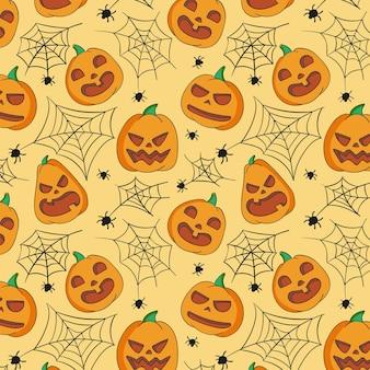 Patron de halloween dibujado a mano