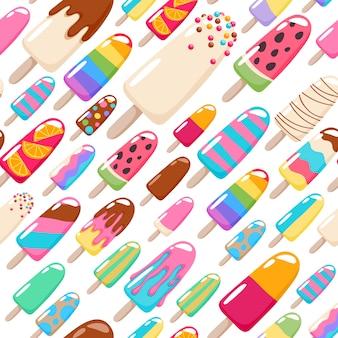 Patrón de helado de paletas.