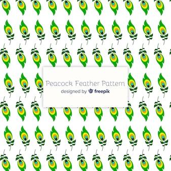 Patrón hermoso de plumas de pavo real