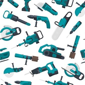 Patrón de herramientas de construcción eléctrica
